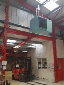 Warm Air Heater Installation.